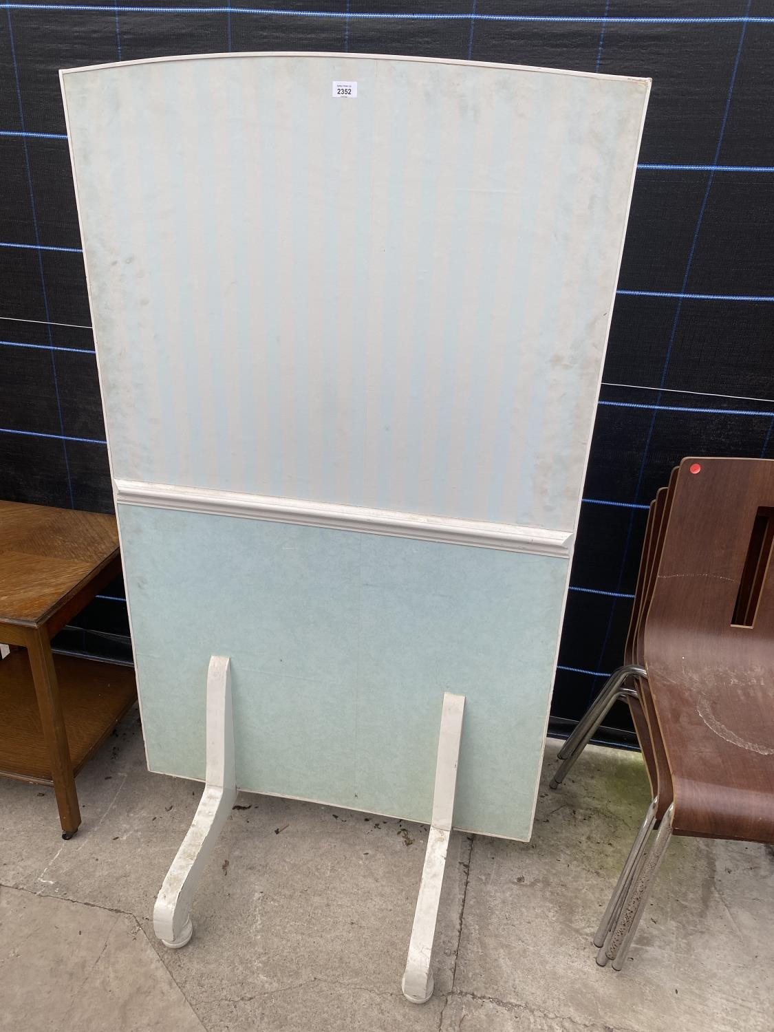 """A PAINTED FREE STANDING SCREEN, 61X36"""""""