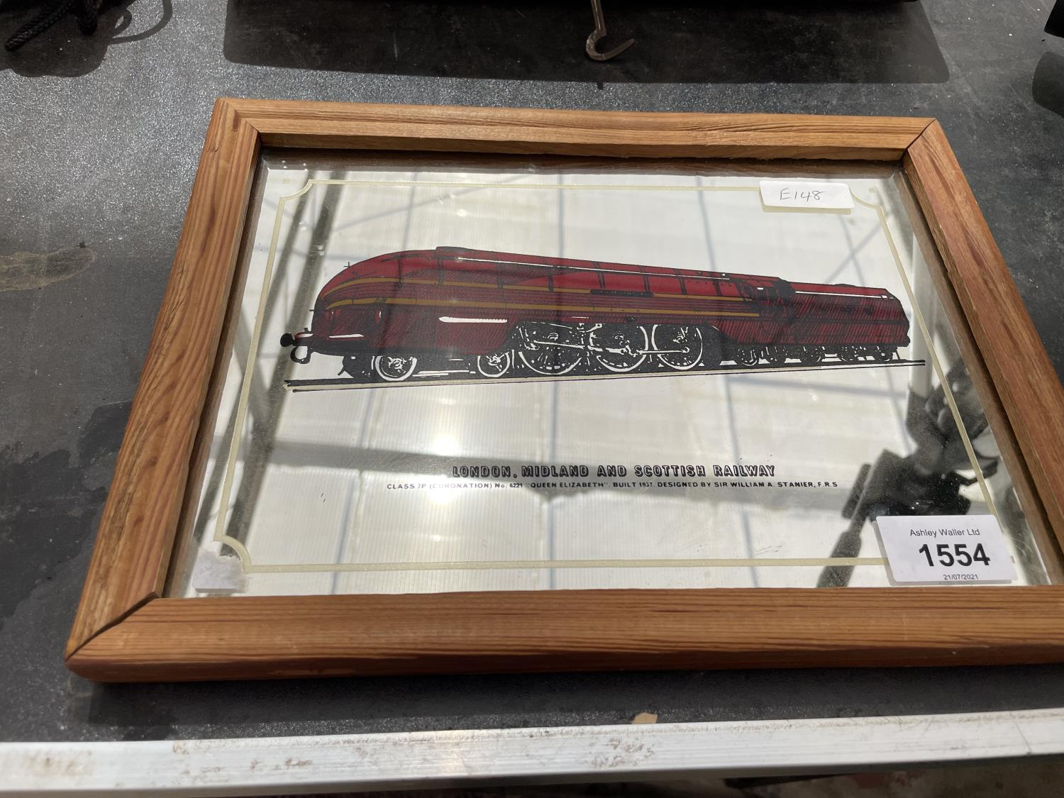 A LONDON MIDLAND AND SCOTTISH RAILWAY ADVERTISING MIRROR - Image 2 of 2