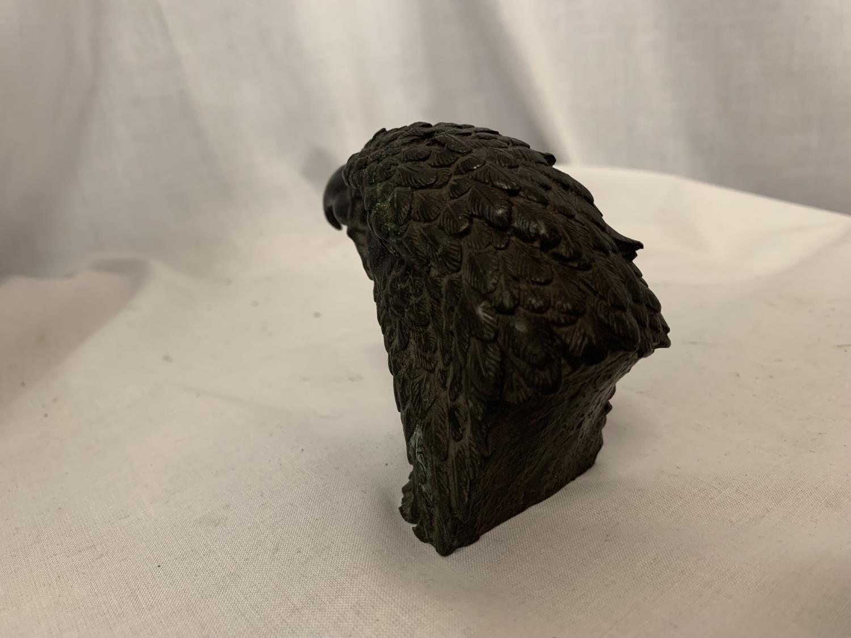 A BRONZE EAGLE HEAD H:8CM - Image 3 of 3