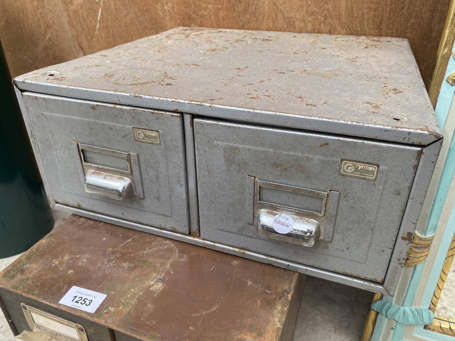 A GROUP OF THREE MATCHING TWO DRAWER CABINETS AND A FURTHER TWO DRAWER UNIT - Image 2 of 4