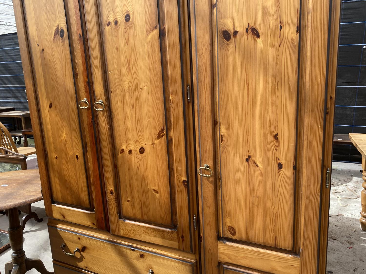 """A MODERN PINE COMBINATION WARDROBE, 52.5"""" WIDE - Image 3 of 4"""
