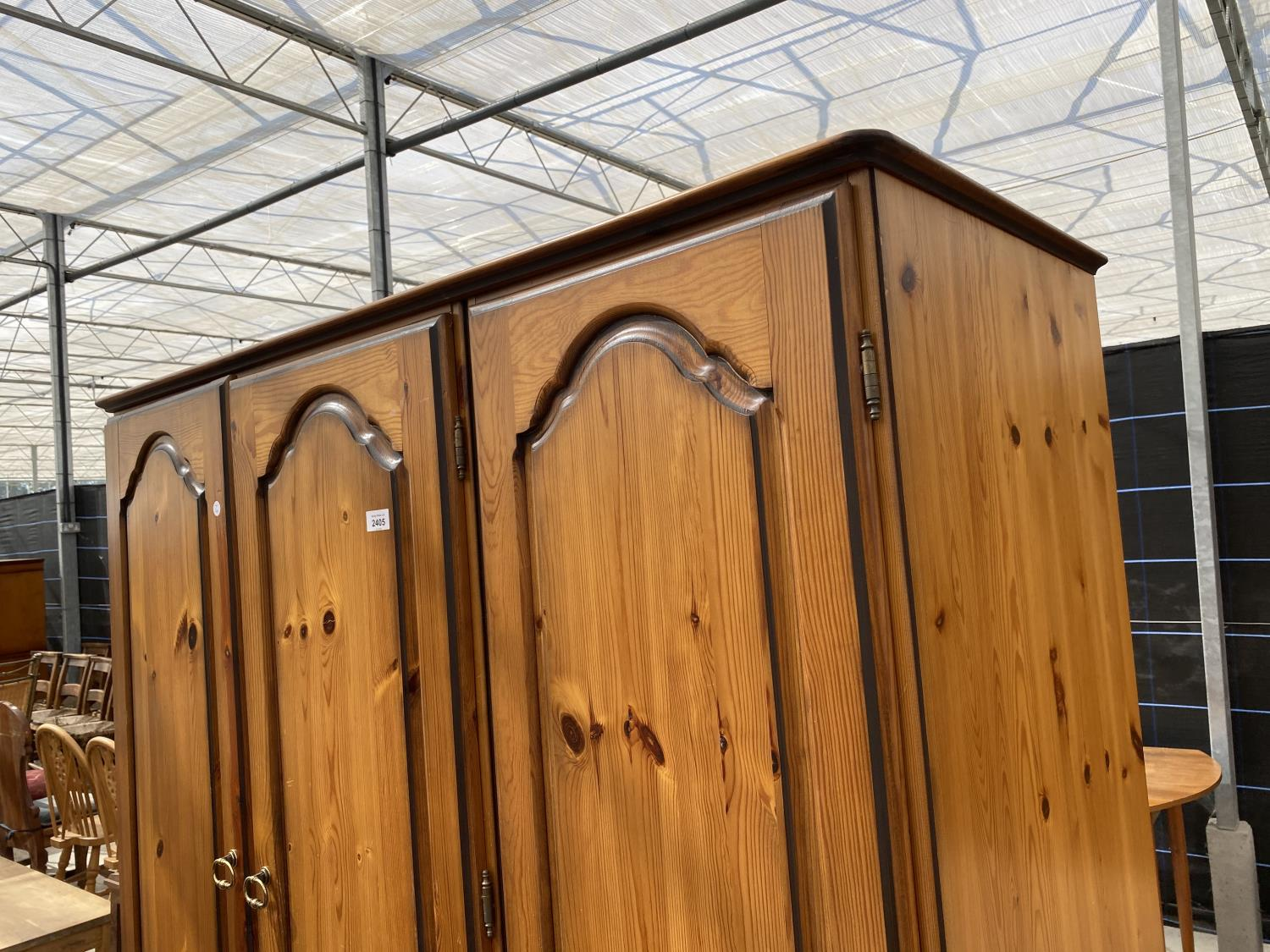 """A MODERN PINE COMBINATION WARDROBE, 52.5"""" WIDE - Image 2 of 4"""