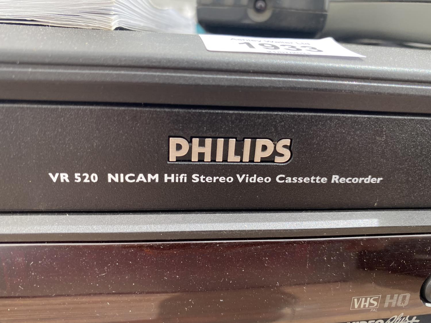 A SAMSUNG DVD PLAYER AND A PHILIPS VHS PLAYER - Image 2 of 3