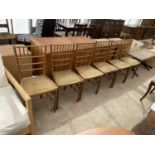 A SET OF SIX BAMBOO EFFECT BEDROOM CHAIRS