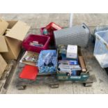 AN ASSORTMENT OF HOUSEHOLD CLEARANCE ITEMS TO INCLUDE GLASS WARE, CDS AND GAMES ETC