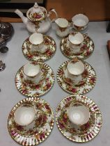 A ROYAL ALBERT 'OLD COUNTRY ROSES' TEA SET TO INCLUDE SIX TRIOS