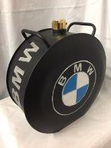 A BLACK BMW PETROL CAN, H-39CM