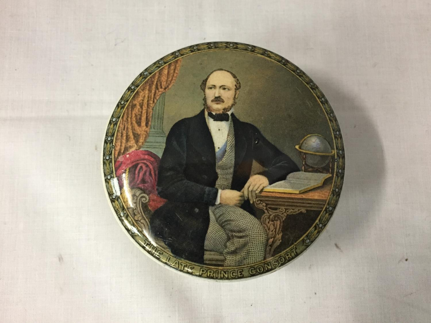 A PRATT WARE LIDDED POT 'THE LATE PRINCE CONSORT' (VICTORIA'S HUSBAND) - Image 3 of 5