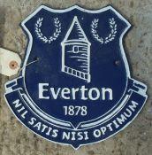 CAST IRON EVERTON SIGN NO VAT