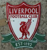 CAST IRON LIVERPOOL FOOTBALL CLUB SIGN NO VAT