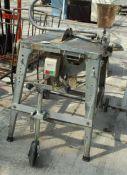 CLARKE WOODWORKER TABLE SAW ON TROLLEY BASE NO VAT