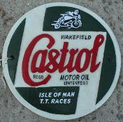 CAST IRON CASTROL SIGN NO VAT