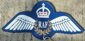 RAF WINGS SIGN NO VAT