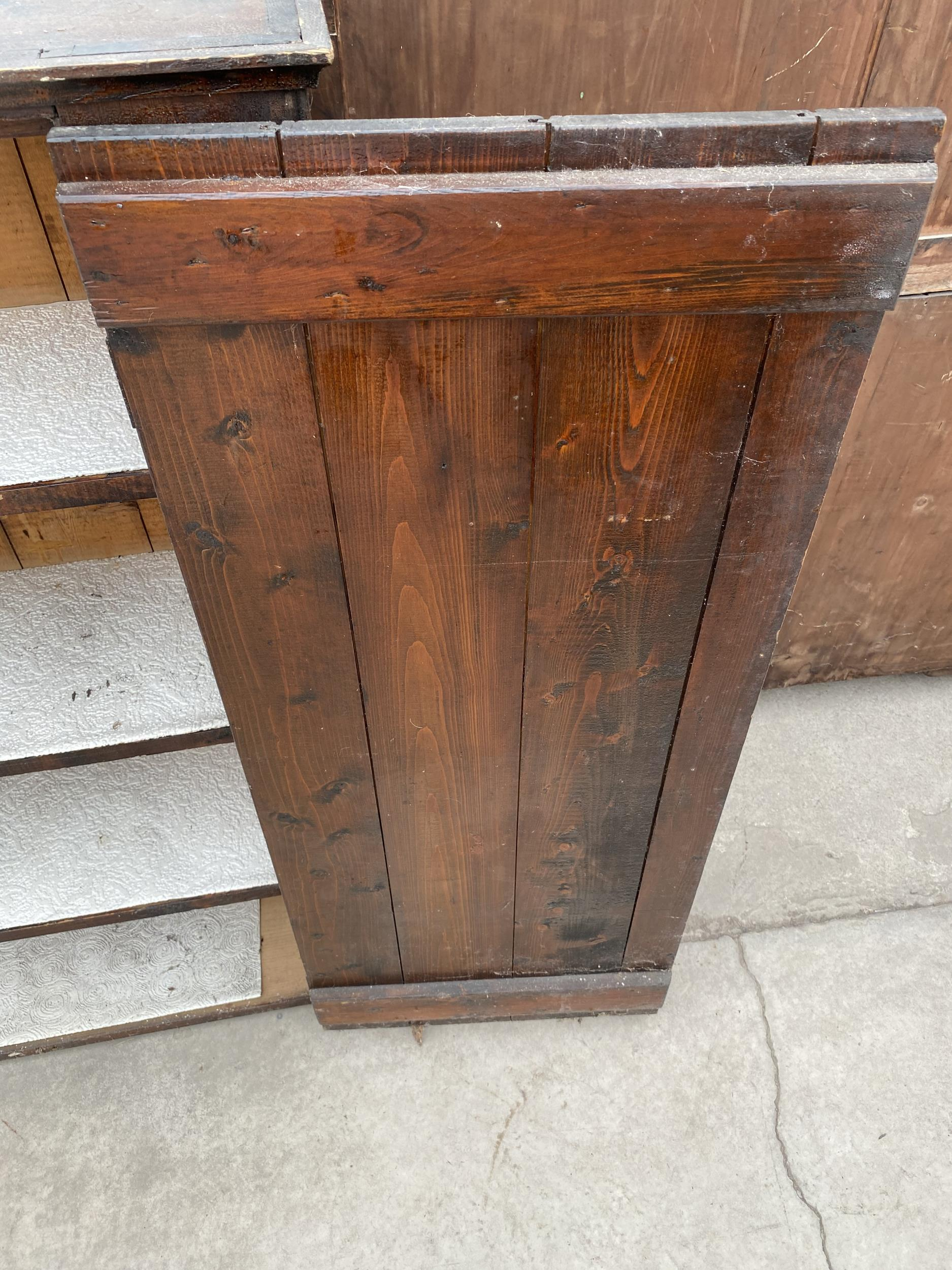 """A TWO DOOR STAINED PINE CUPBOARD 49"""" WIDE - Image 6 of 6"""