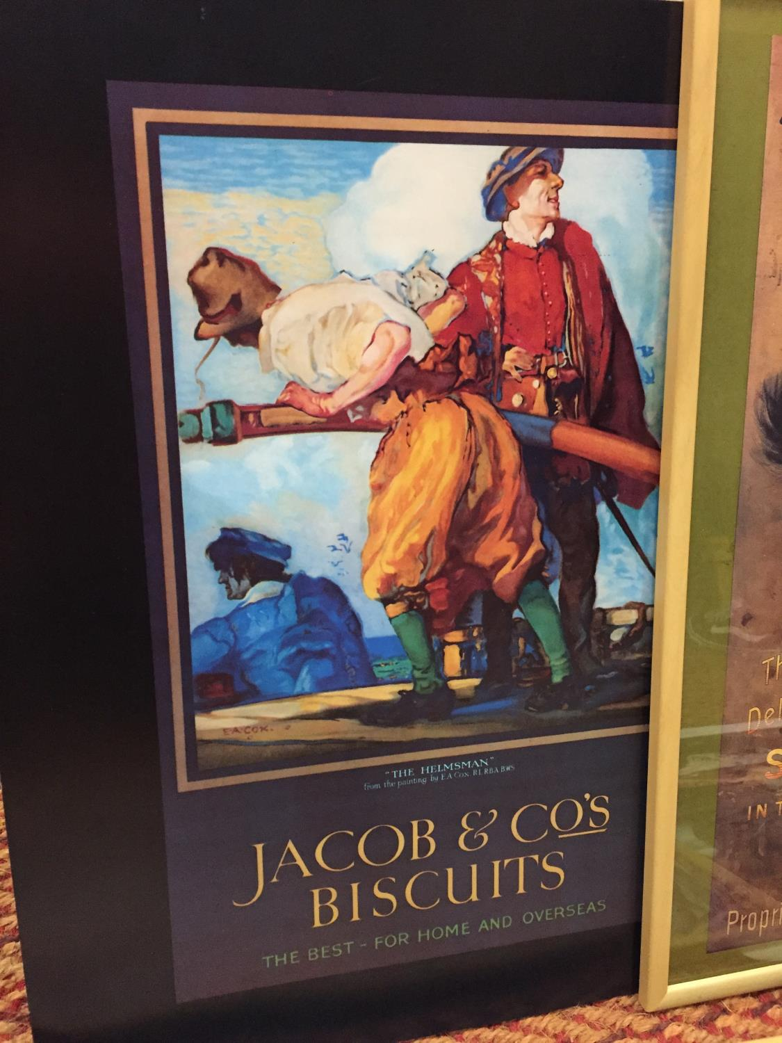 A GROUP OF FOUR ADVERTISING POSTERS, TWO FRAMED TO INCLUDE YORKSHIRE RELISH, PEARS SOAP, JACOBS - Image 3 of 10