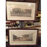 A PAIR OF HAND TINTED ENGRAVINGS OF CHESTER