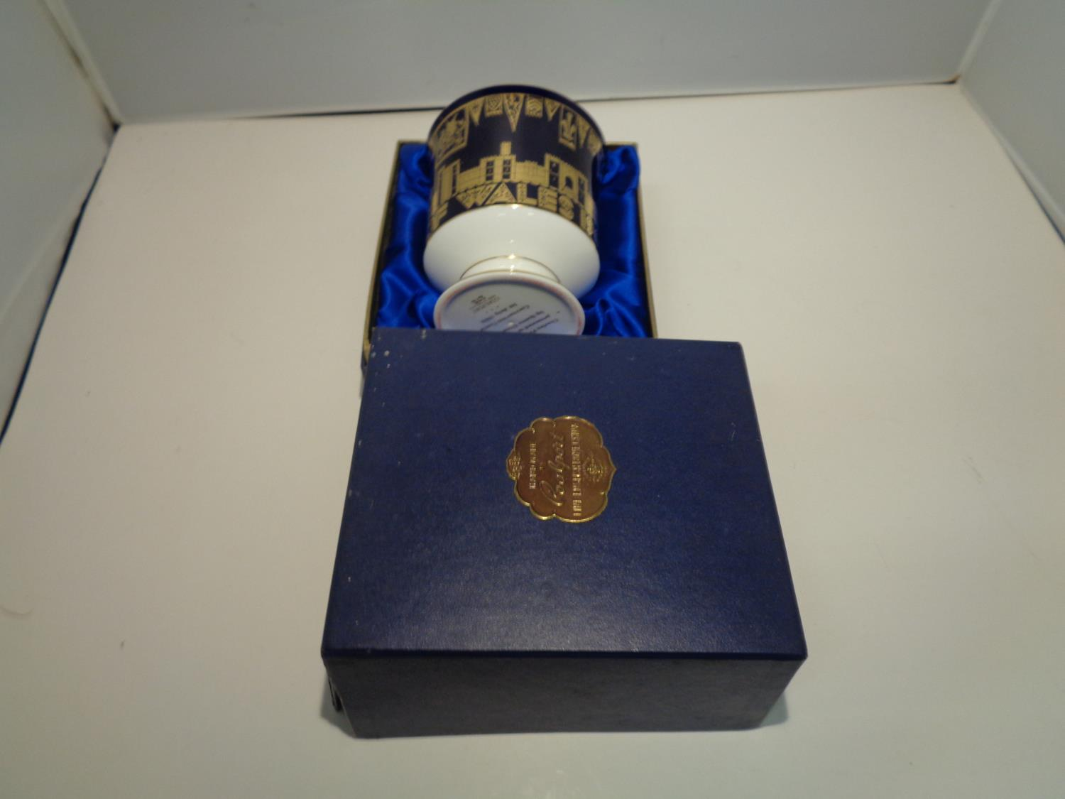 A BOXED COALPORT 'CHARLES PRINCE OF WALES 1969' GOBLET - Image 10 of 10