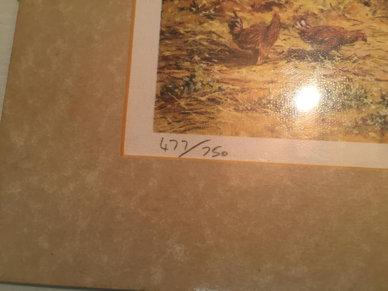 THREE MOUNTED SIGNED PRINTS OF FARM SCENES IN A HARDBACK PROTECTIVE FOLDER - Image 11 of 12