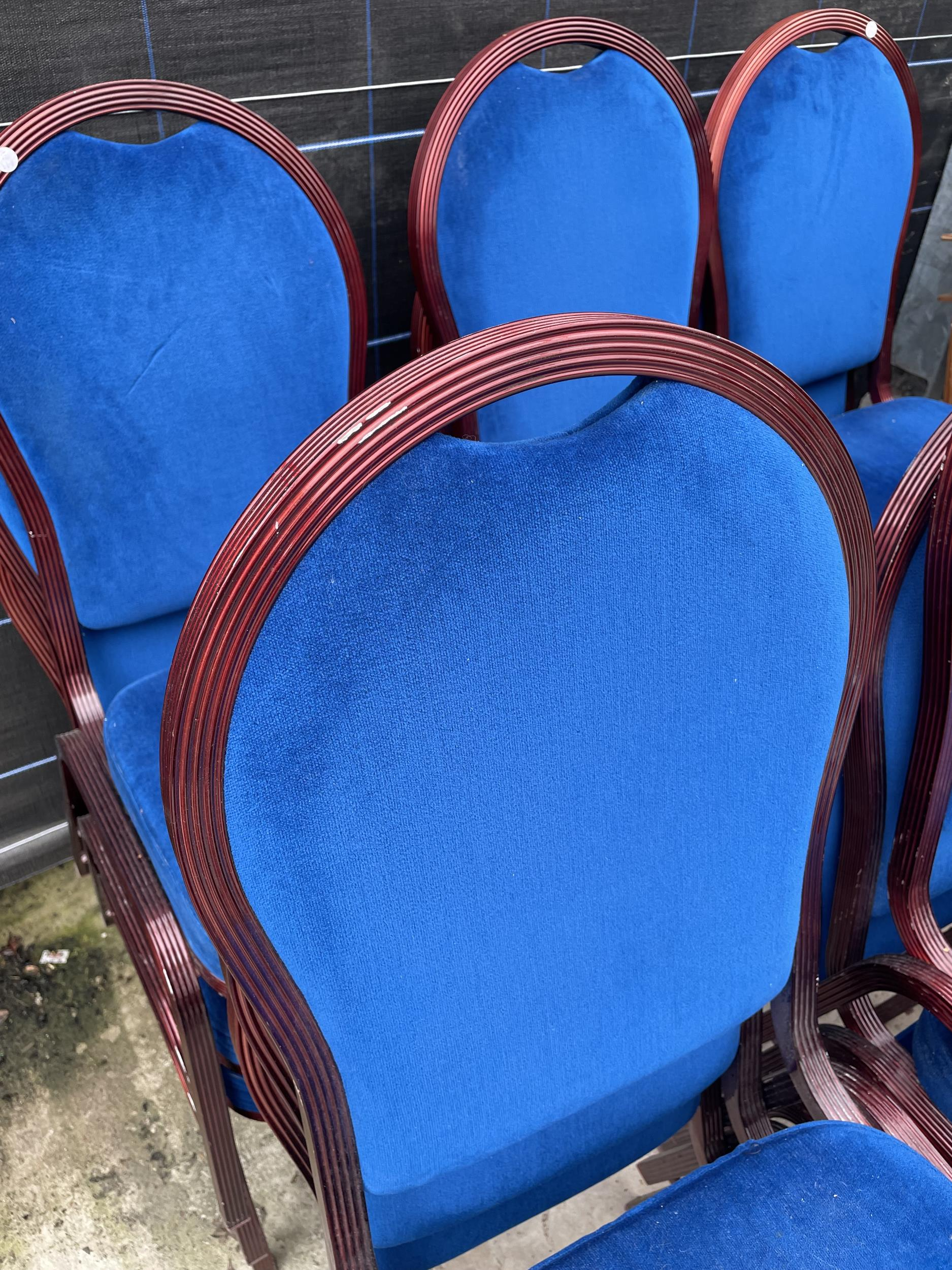 EIGHTEEN MODERN STACKING CHAIRS - Image 3 of 3