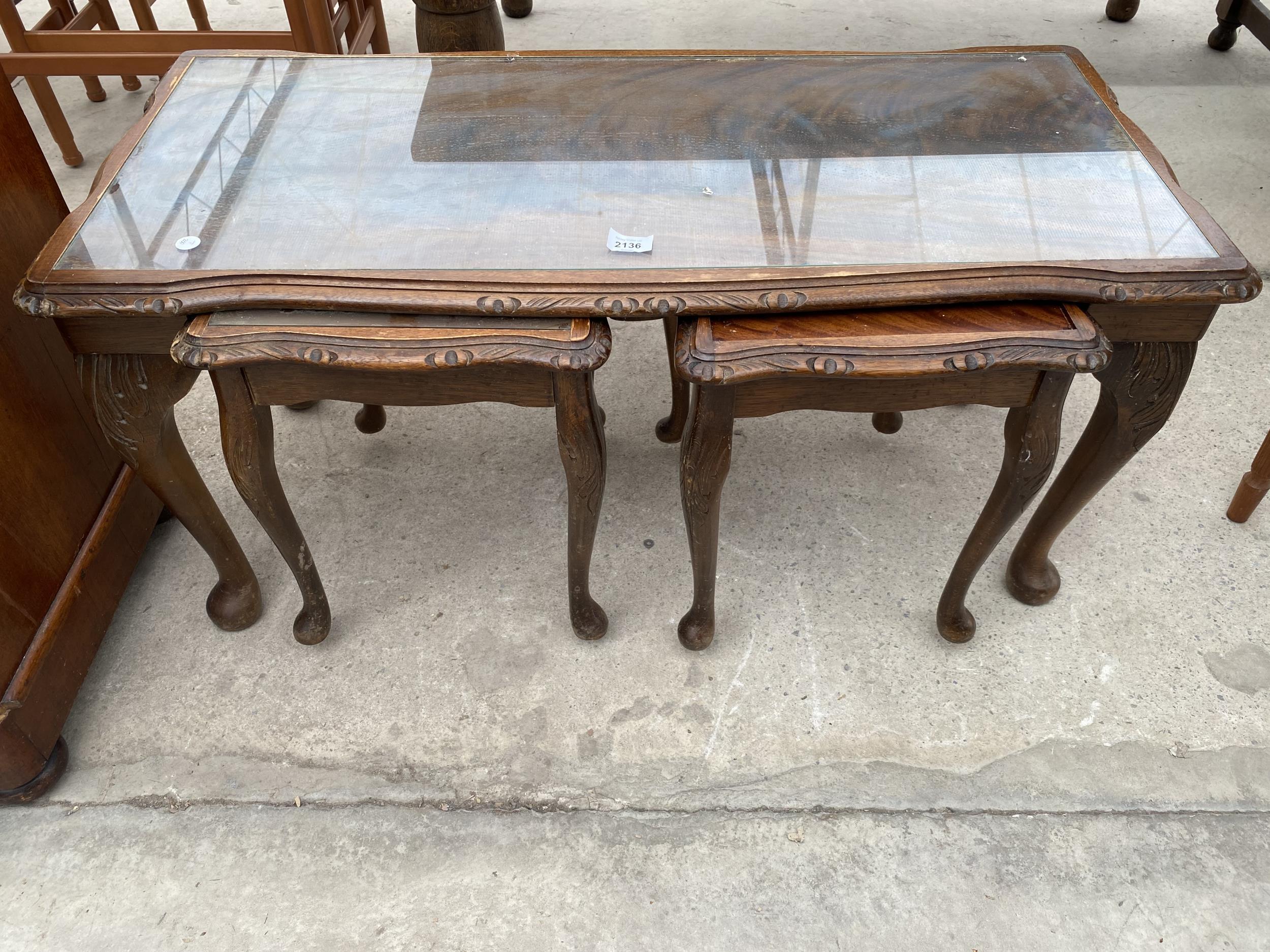 NEST OF THREE MODERN TABLES