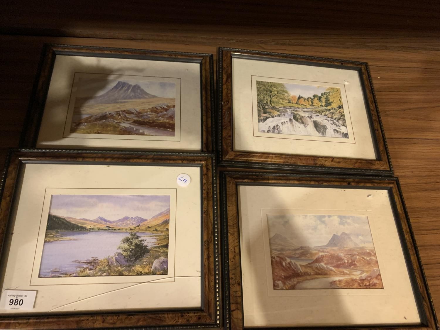 FOUR FRAMED COUNTRYSIDE LAKE PICTURES - Image 2 of 2