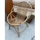 A 1970'S BAMBOO CONSERVATORY CHAIR