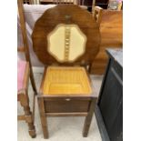 A MID 20TH CENTURY SEWING BOX/TABLE