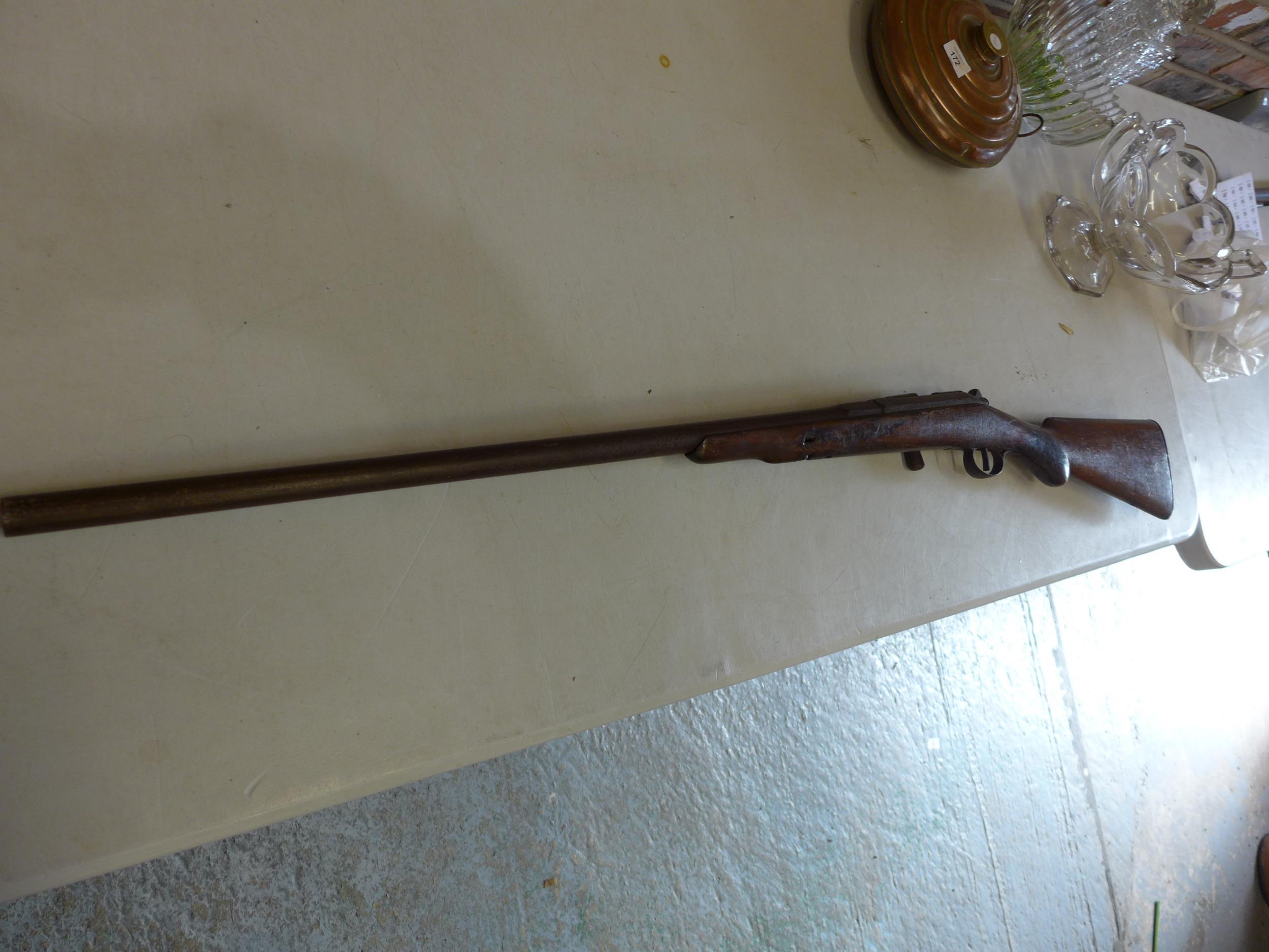 A BELGIUN MADE CHASSEPOT SMOOTH BORE BOLT ACTION SINGLE BARREL GUN, 71CM BARREL - Image 3 of 4