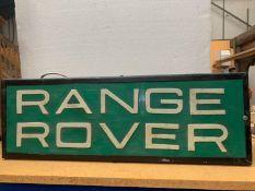 A RANGE ROVER ILLUMINATED LIGHT BOX SIGN