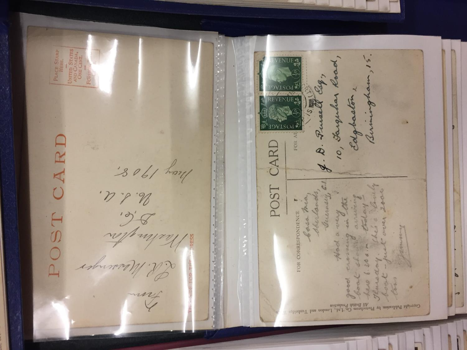 A LARGE COLLECTION OF 550+ ANTIQUE AND VINTAGE POSTCARDS RANGING FROM 1908-1970'S. MAINLEY UK - SOME - Image 9 of 14