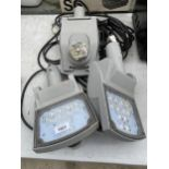 THREE INDUSTRIAL OUTSIDE SECURITY LIGHTS