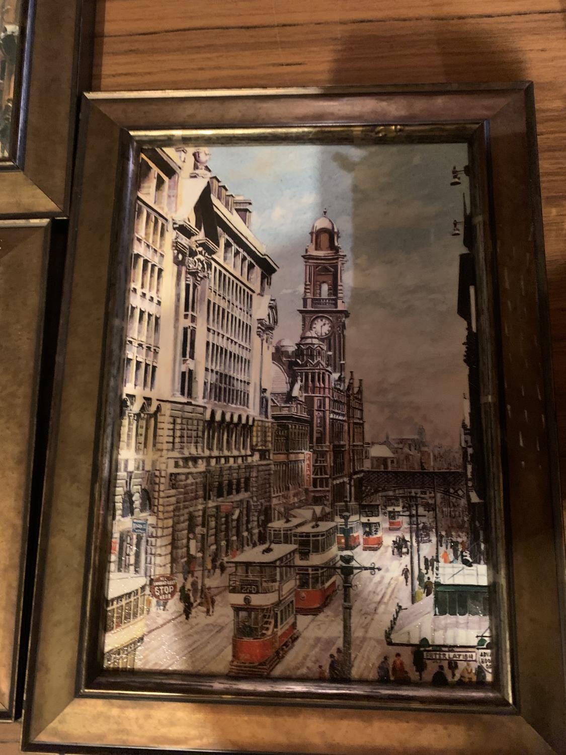 THREE FRAMED PRINTS OF CITY SCENES - Image 8 of 8
