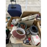AN ASSORTMENT OF HOUSEHOLD CLEARANCE ITEMS TO INCLUDE CERAMICS AND PICTURES ETC