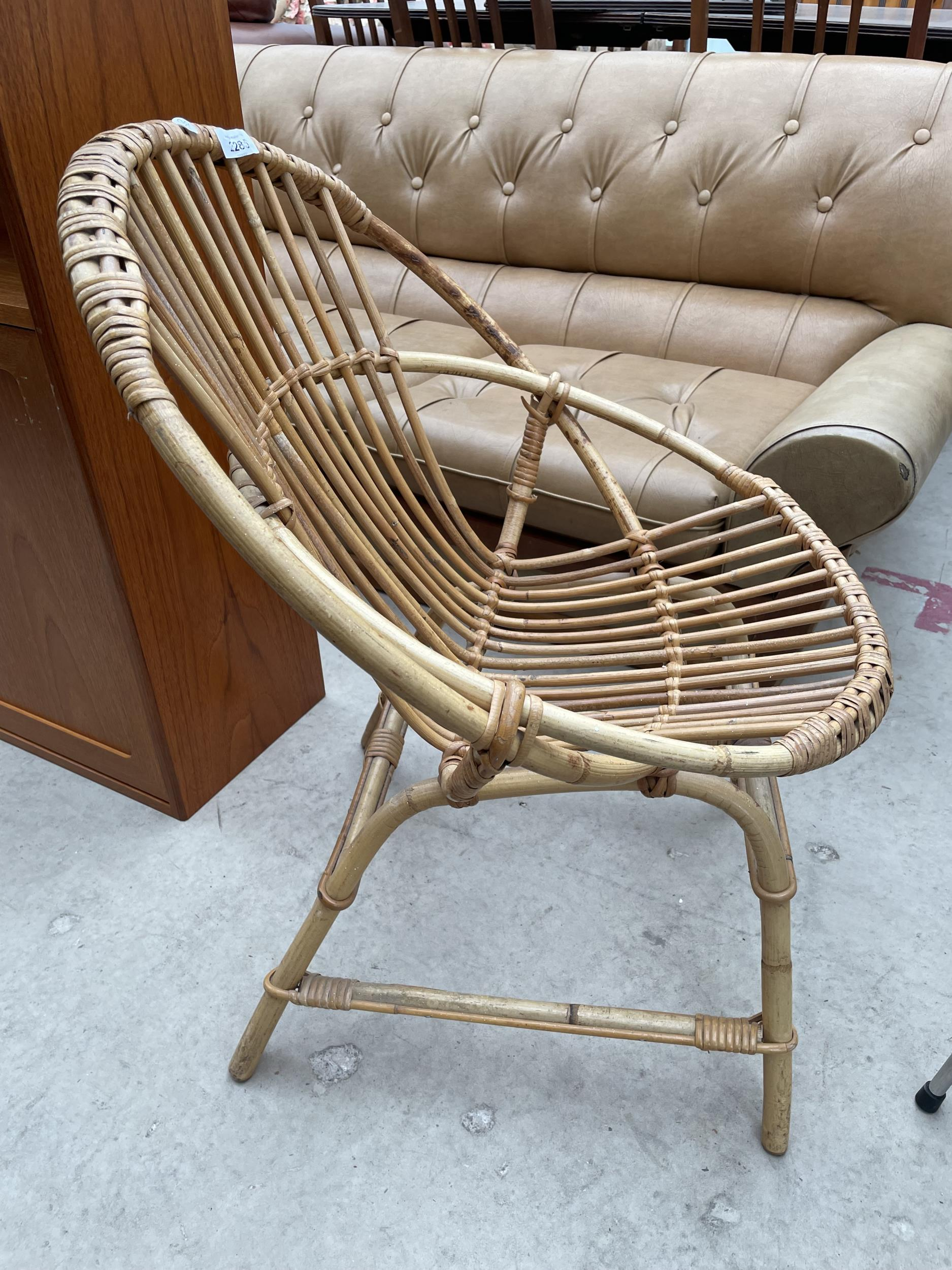 A 1970'S BAMBOO CONSERVATORY CHAIR - Image 2 of 2