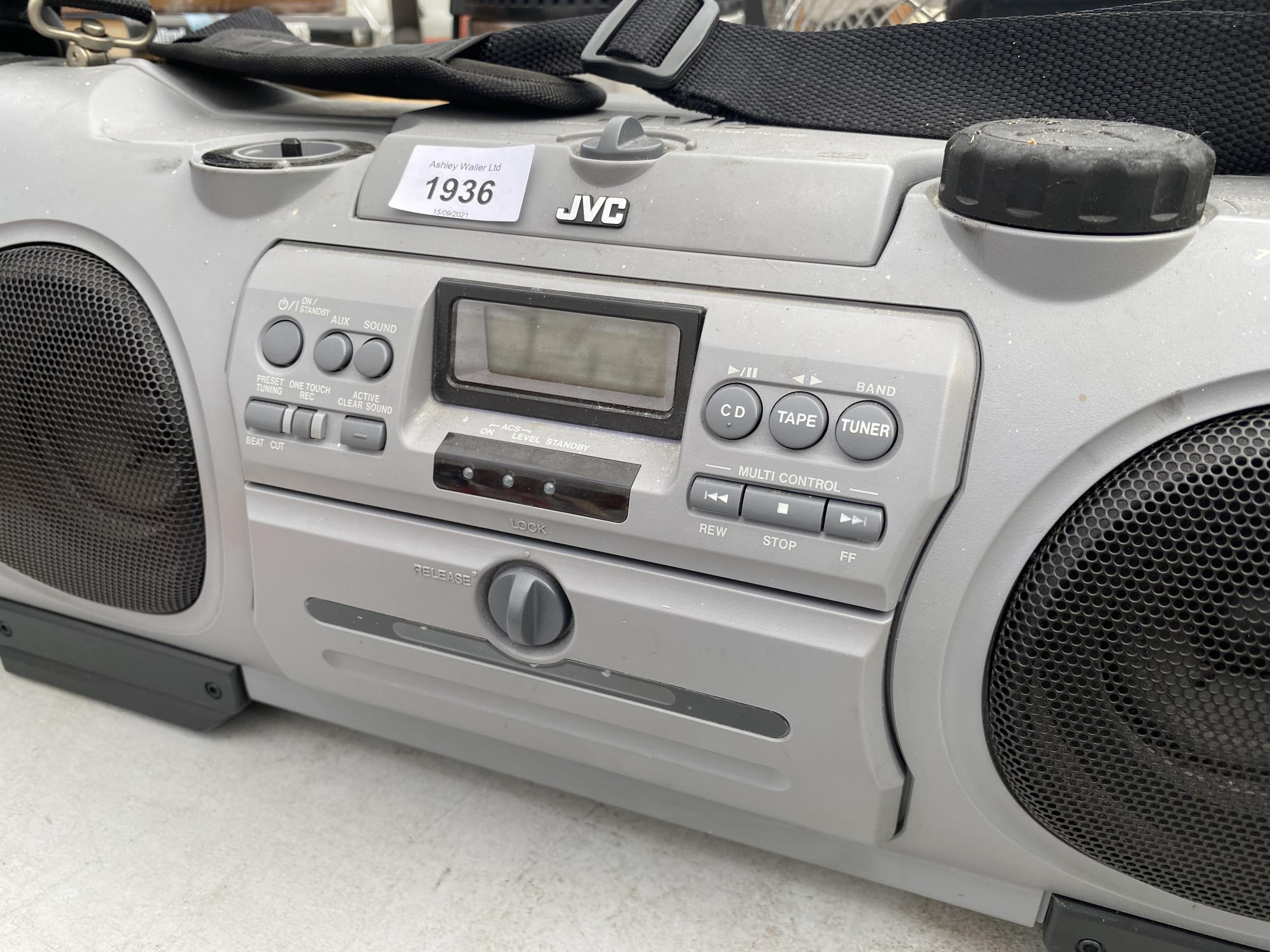 A JVC GHETTO BLASTER STEREO SYSTEM - Image 2 of 2