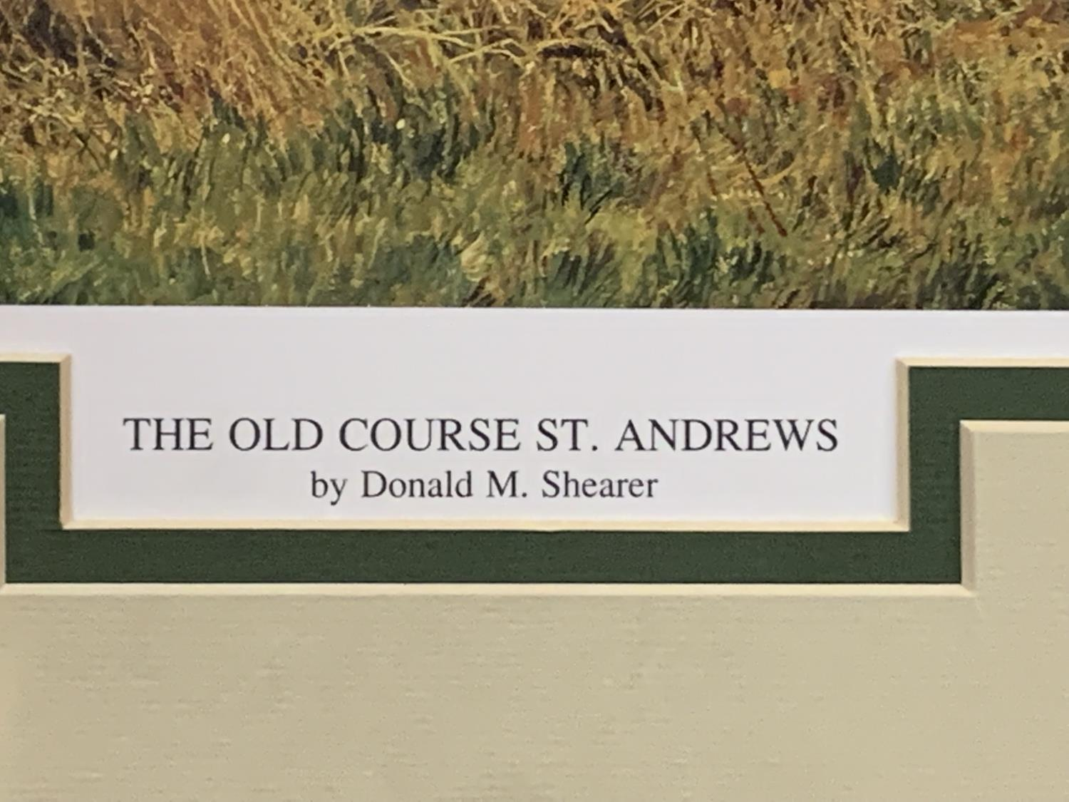 A MOUNTED PRINT OF THE OLD COURSE ST ANDREWS WITH AN INDISTINCT SIGNATURE - Image 4 of 6