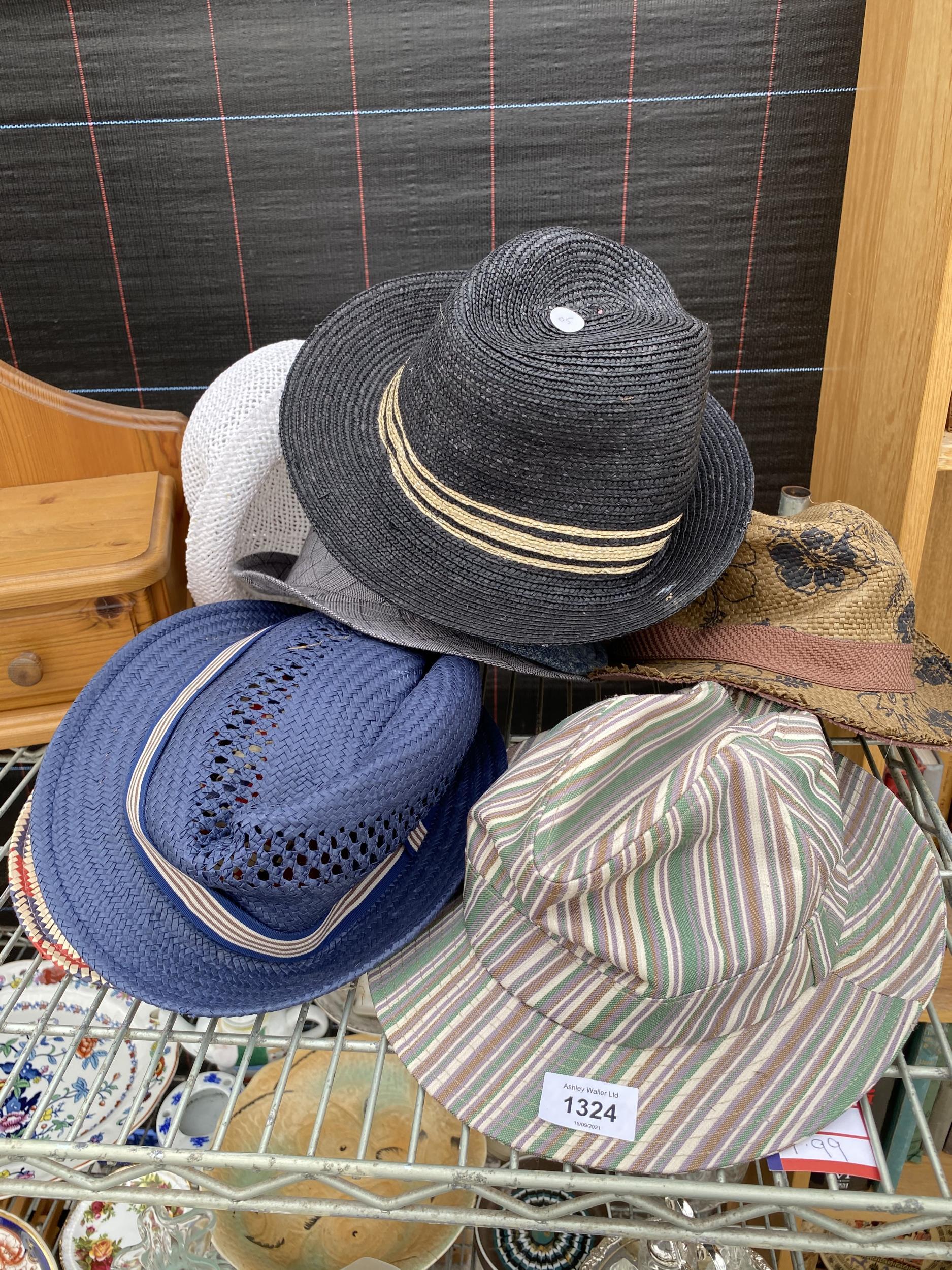 AN ASSORTMENT OF HATS
