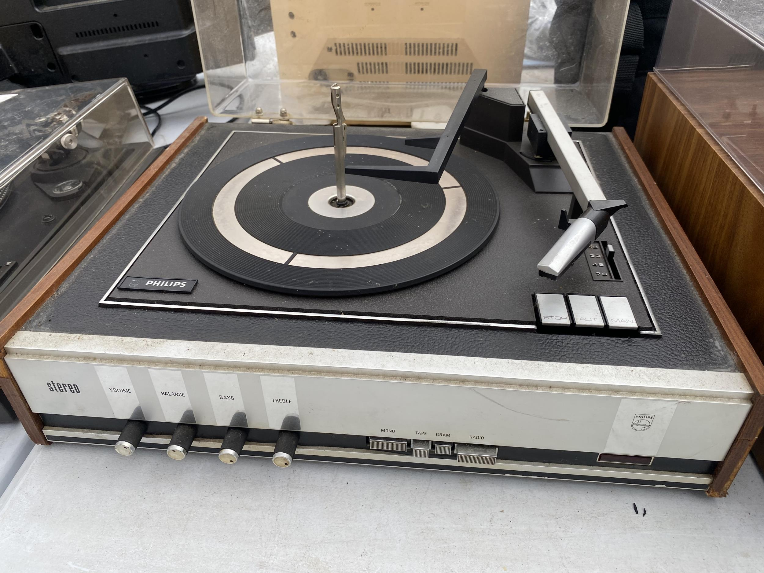 A CASED PHILIPS RECORD DECK - Image 2 of 2