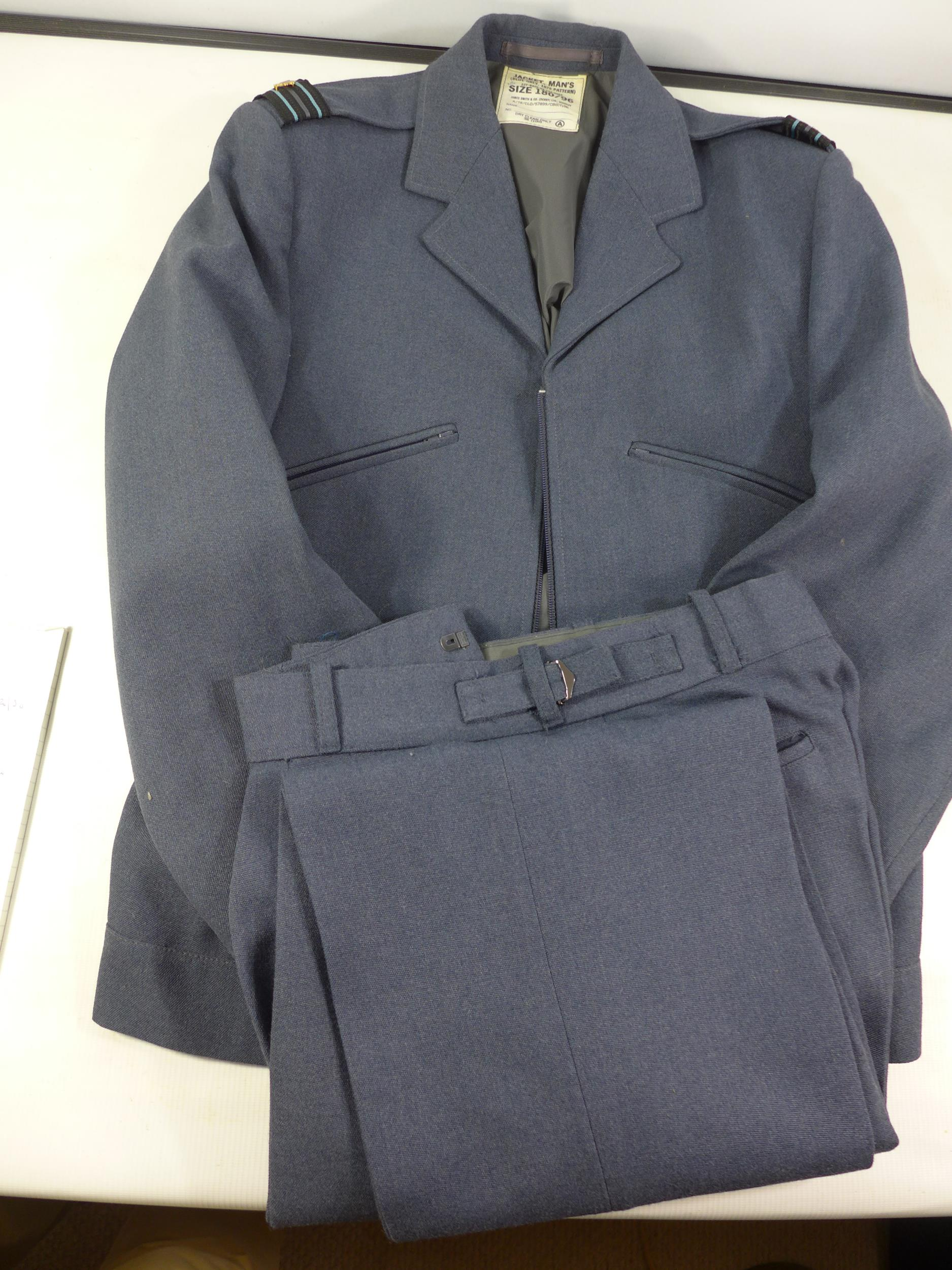 A RAF 1972 PATTERN UNIFORM COMPRISING OF A JACKET AND TROUSERS, SIZE 180/96