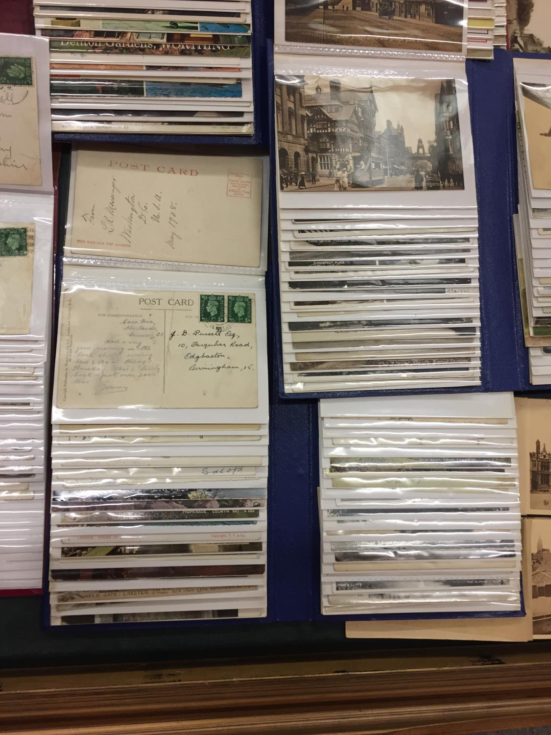 A LARGE COLLECTION OF 550+ ANTIQUE AND VINTAGE POSTCARDS RANGING FROM 1908-1970'S. MAINLEY UK - SOME - Image 8 of 14