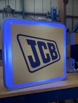 A JCB DOUBLE SIDED ILLUMINATED SIGN