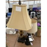 AN ASSORTMENT OF TABLE LAMPS