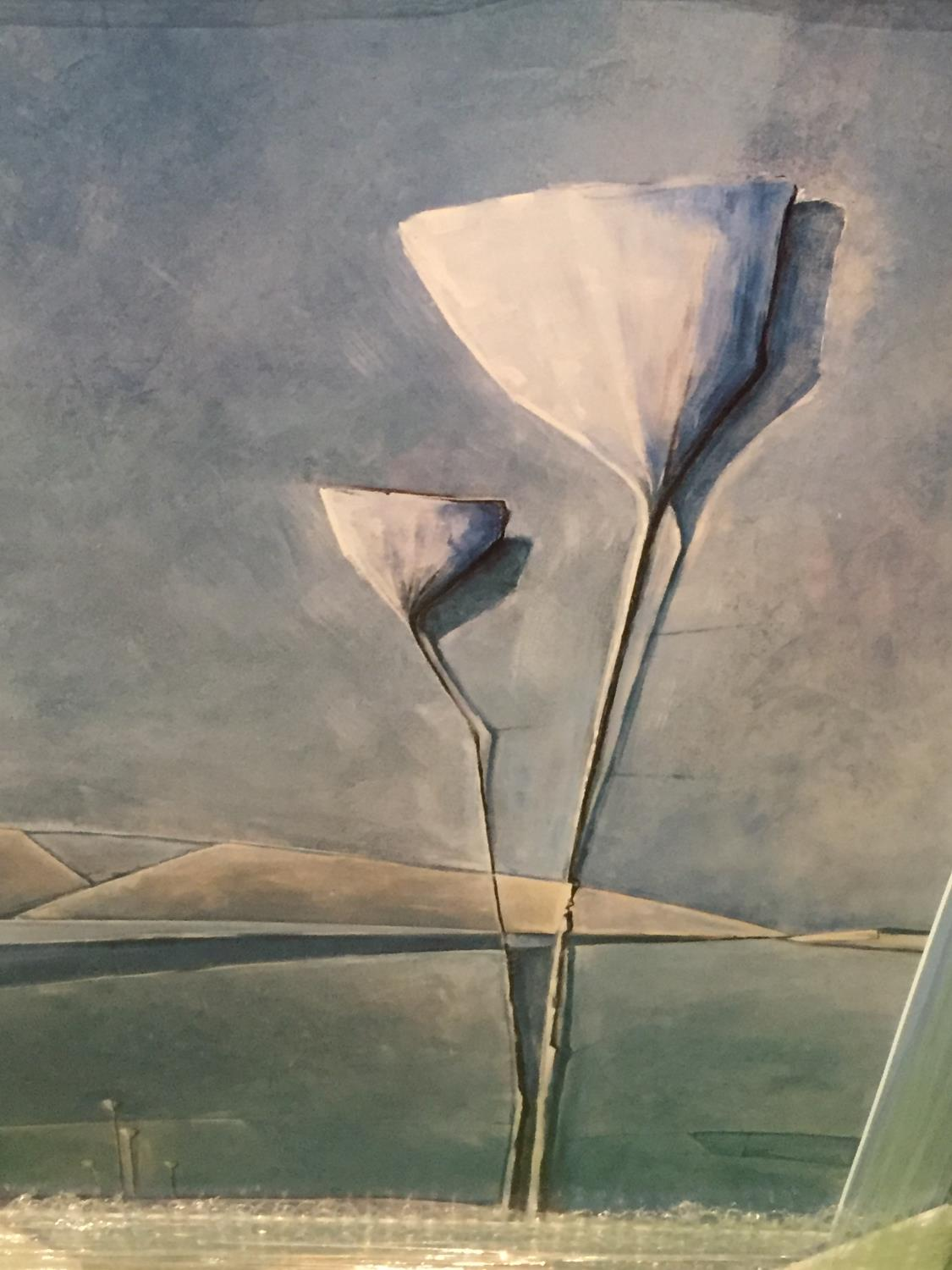 A FRAMED PRINT OF AN ABSTRACT FLOWER - Image 3 of 4
