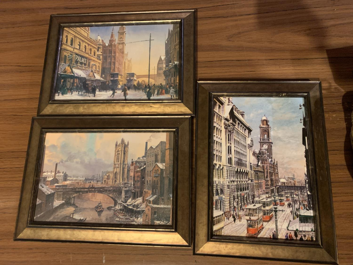 THREE FRAMED PRINTS OF CITY SCENES - Image 2 of 8
