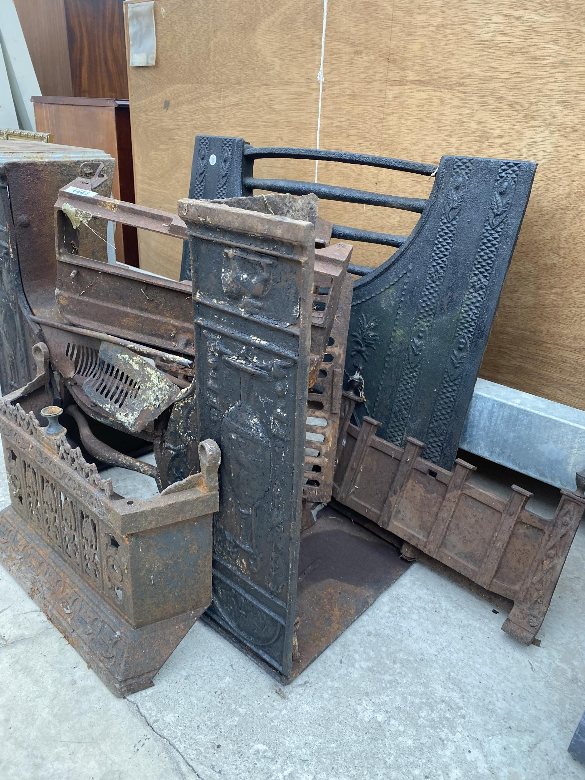 AN ASSORTMENT OF CAST IRON FIRE FRONTS AND FIRE GRATES ETC - Image 2 of 2
