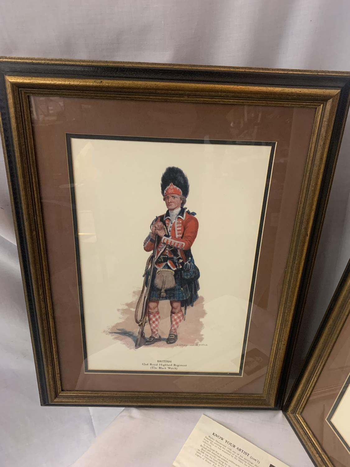 TWO FRAMED PICTURES OF ROYAL WELSH FUSILIERS AND HIGHLAND REGIMENT - Image 4 of 8