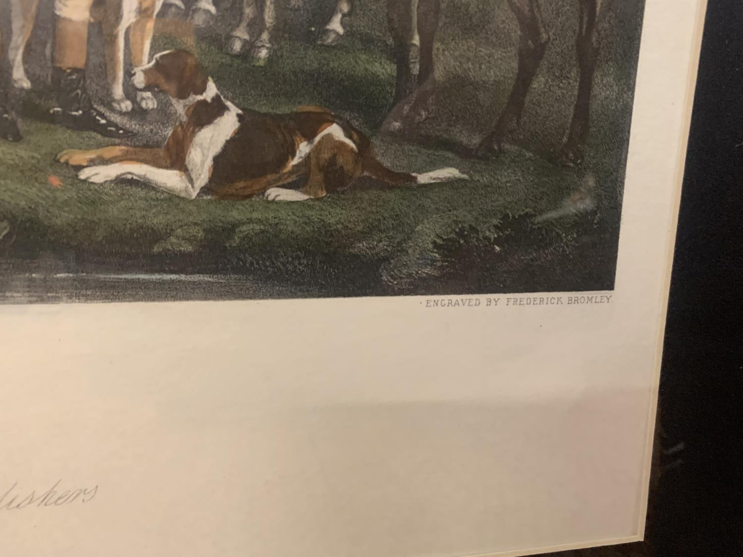 A FRAMED ETCHING OF SIR RICHARD HUTTON AND THE QUORN HOUNDS - Image 7 of 8