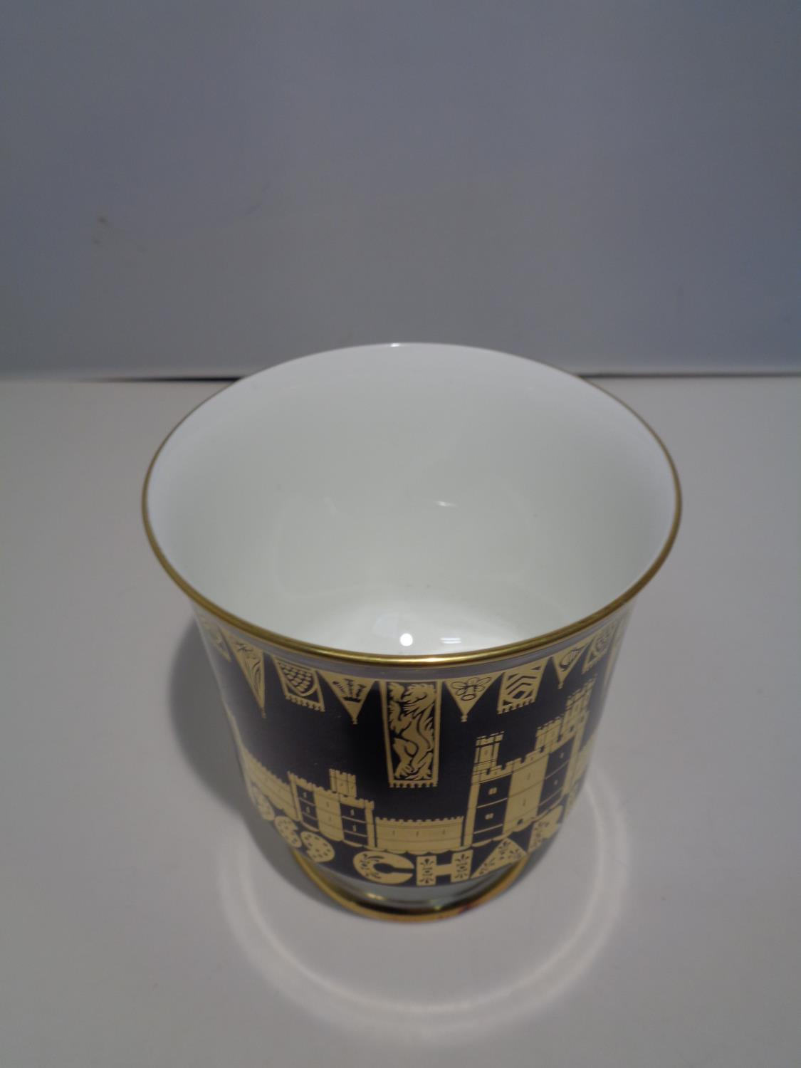 A BOXED COALPORT 'CHARLES PRINCE OF WALES 1969' GOBLET - Image 5 of 10