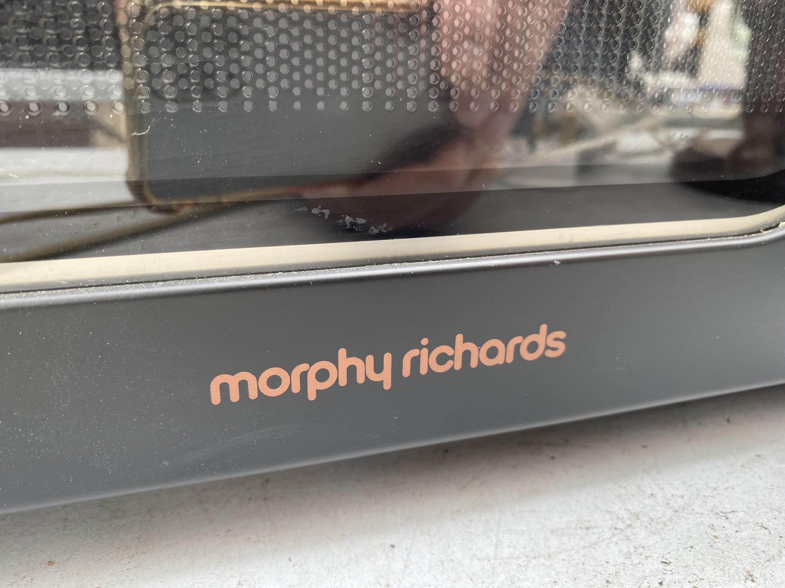 A BLACK MORPHY RICHARDS MICROWAVE OVEN - Image 2 of 3
