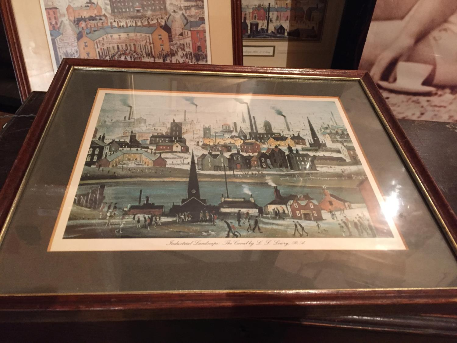 FOUR FRAMED LS LOWERY PRINTS TO INCLUDE A MONTAGE OF THREE - Image 4 of 10